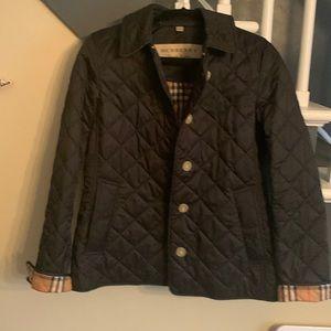 Burberry London womens diamond quilted jacket. Medium